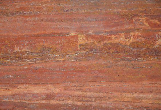 سنگ ساختمانی تراورتن قرمز